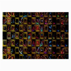 Kaleidoscope Pattern Abstract Art Large Glasses Cloth