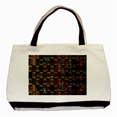 Kaleidoscope Pattern Abstract Art Basic Tote Bag (Two Sides)