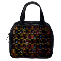 Kaleidoscope Pattern Abstract Art Classic Handbags (One Side)