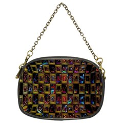 Kaleidoscope Pattern Abstract Art Chain Purses (Two Sides)