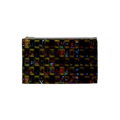 Kaleidoscope Pattern Abstract Art Cosmetic Bag (Small)