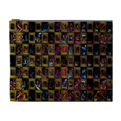 Kaleidoscope Pattern Abstract Art Cosmetic Bag (xl)