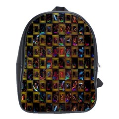 Kaleidoscope Pattern Abstract Art School Bags(large)