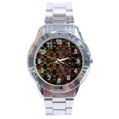 Kaleidoscope Pattern Abstract Art Stainless Steel Analogue Watch