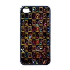 Kaleidoscope Pattern Abstract Art Apple iPhone 4 Case (Black)