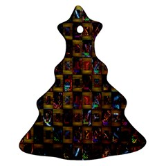 Kaleidoscope Pattern Abstract Art Christmas Tree Ornament (Two Sides)