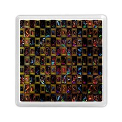Kaleidoscope Pattern Abstract Art Memory Card Reader (Square)