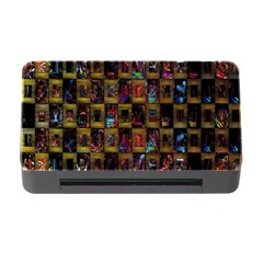Kaleidoscope Pattern Abstract Art Memory Card Reader With Cf