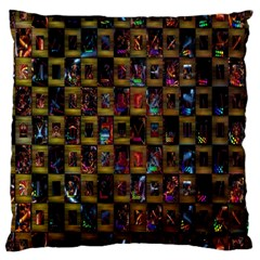 Kaleidoscope Pattern Abstract Art Large Cushion Case (two Sides)