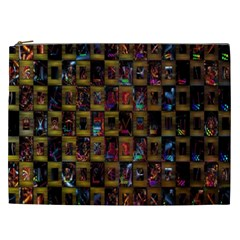Kaleidoscope Pattern Abstract Art Cosmetic Bag (xxl)