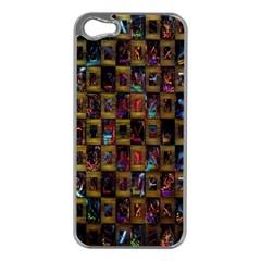 Kaleidoscope Pattern Abstract Art Apple Iphone 5 Case (silver)