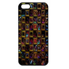 Kaleidoscope Pattern Abstract Art Apple Iphone 5 Seamless Case (black)