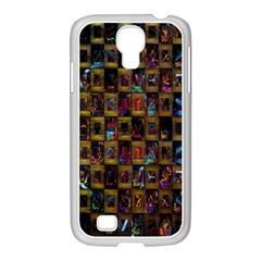 Kaleidoscope Pattern Abstract Art Samsung Galaxy S4 I9500/ I9505 Case (white)