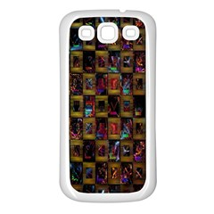 Kaleidoscope Pattern Abstract Art Samsung Galaxy S3 Back Case (White)