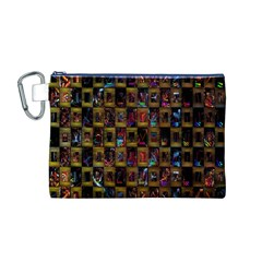 Kaleidoscope Pattern Abstract Art Canvas Cosmetic Bag (m)