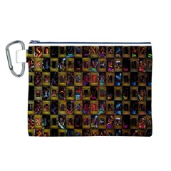 Kaleidoscope Pattern Abstract Art Canvas Cosmetic Bag (l)
