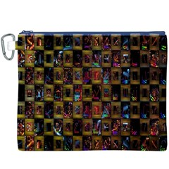 Kaleidoscope Pattern Abstract Art Canvas Cosmetic Bag (XXXL)