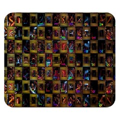 Kaleidoscope Pattern Abstract Art Double Sided Flano Blanket (small)