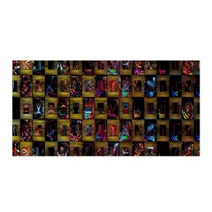 Kaleidoscope Pattern Abstract Art Satin Wrap