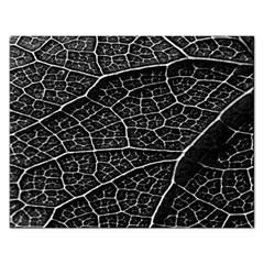 Leaf Pattern  B&w Rectangular Jigsaw Puzzl