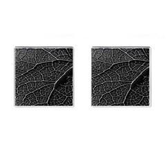 Leaf Pattern  B&w Cufflinks (square)