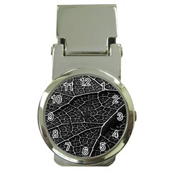 Leaf Pattern  B&w Money Clip Watches