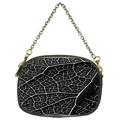 Leaf Pattern  B&w Chain Purses (one Side)