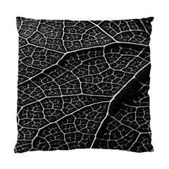 Leaf Pattern  B&w Standard Cushion Case (Two Sides)