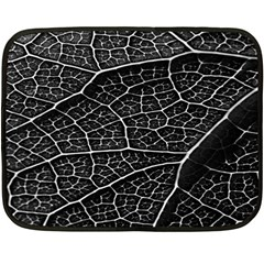 Leaf Pattern  B&w Double Sided Fleece Blanket (mini)