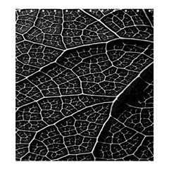 Leaf Pattern  B&w Shower Curtain 66  x 72  (Large)