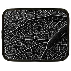 Leaf Pattern  B&w Netbook Case (XL)