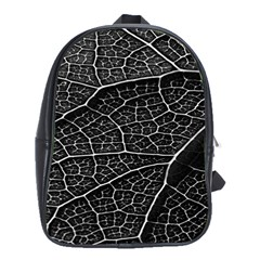 Leaf Pattern  B&w School Bags(Large)