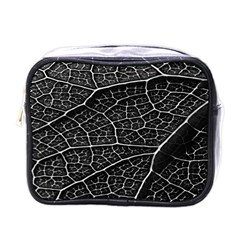 Leaf Pattern  B&w Mini Toiletries Bags