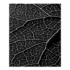 Leaf Pattern  B&w Shower Curtain 60  X 72  (medium)