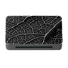 Leaf Pattern  B&w Memory Card Reader With Cf