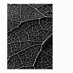 Leaf Pattern  B&w Small Garden Flag (two Sides)