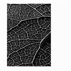 Leaf Pattern  B&w Large Garden Flag (two Sides)