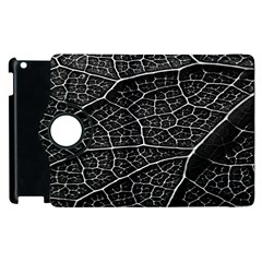 Leaf Pattern  B&w Apple iPad 3/4 Flip 360 Case