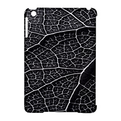 Leaf Pattern  B&w Apple Ipad Mini Hardshell Case (compatible With Smart Cover)
