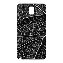 Leaf Pattern  B&w Samsung Galaxy Note 3 N9005 Hardshell Back Case