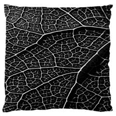Leaf Pattern  B&w Standard Flano Cushion Case (One Side)