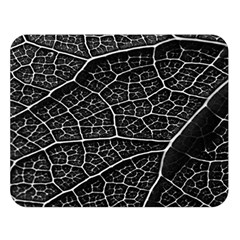 Leaf Pattern  B&w Double Sided Flano Blanket (Large)