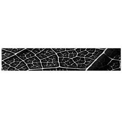 Leaf Pattern  B&w Flano Scarf (Large)
