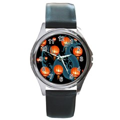 Lampion Round Metal Watch