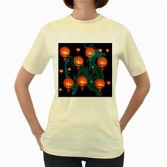 Lampion Women s Yellow T-Shirt