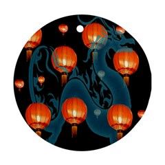 Lampion Round Ornament (Two Sides)