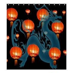 Lampion Shower Curtain 66  x 72  (Large)