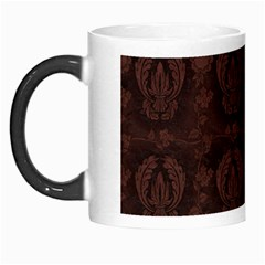 Leaf Pattern Green Wallpaper Tea Leather Morph Mugs