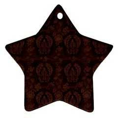 Leaf Pattern Green Wallpaper Tea Leather Star Ornament (Two Sides)