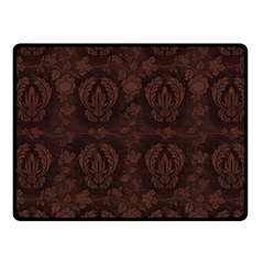 Leaf Pattern Green Wallpaper Tea Leather Fleece Blanket (Small)